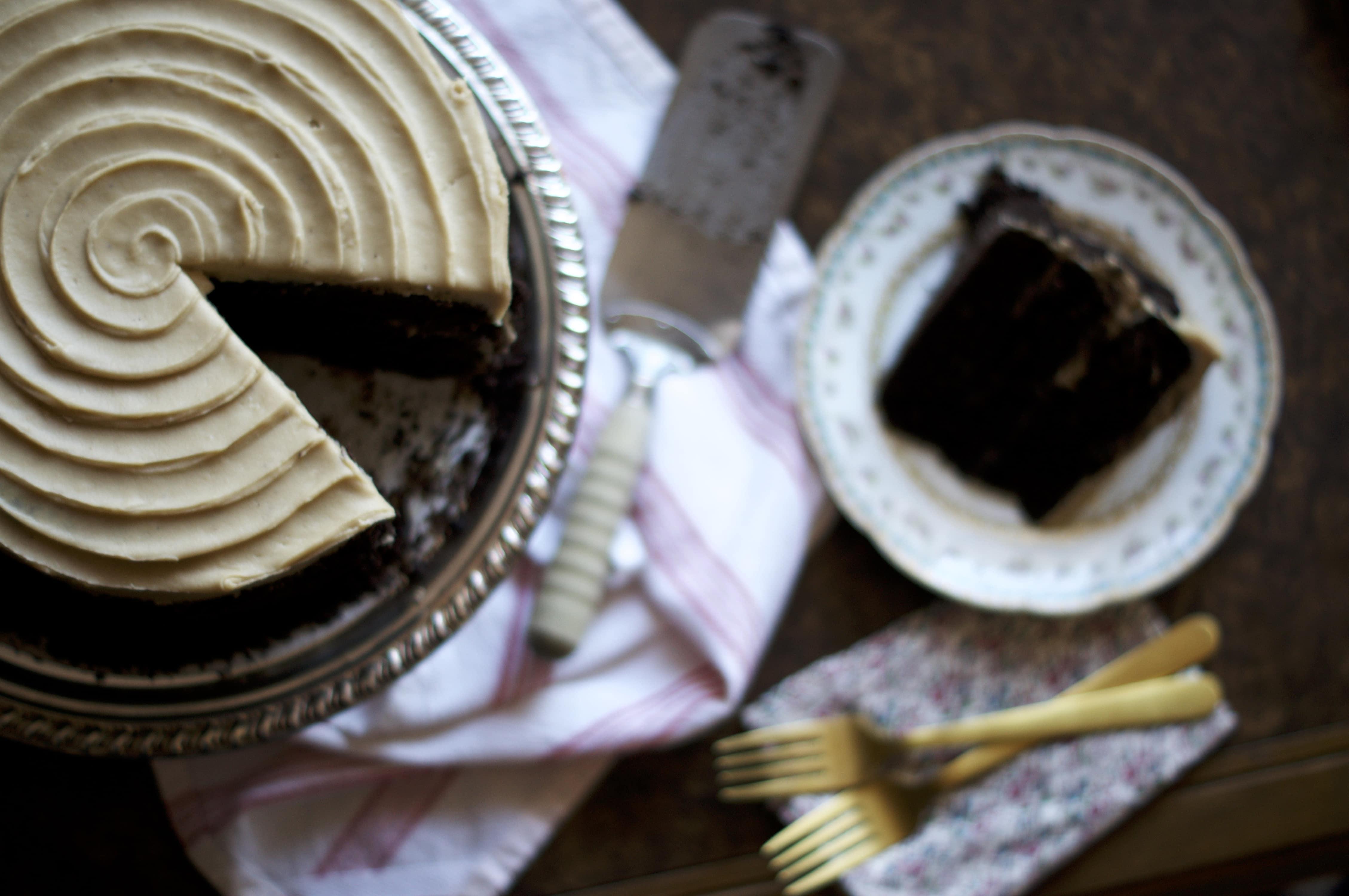 Chocolate Coffee Stout Cake   via Midwest Nice Blog
