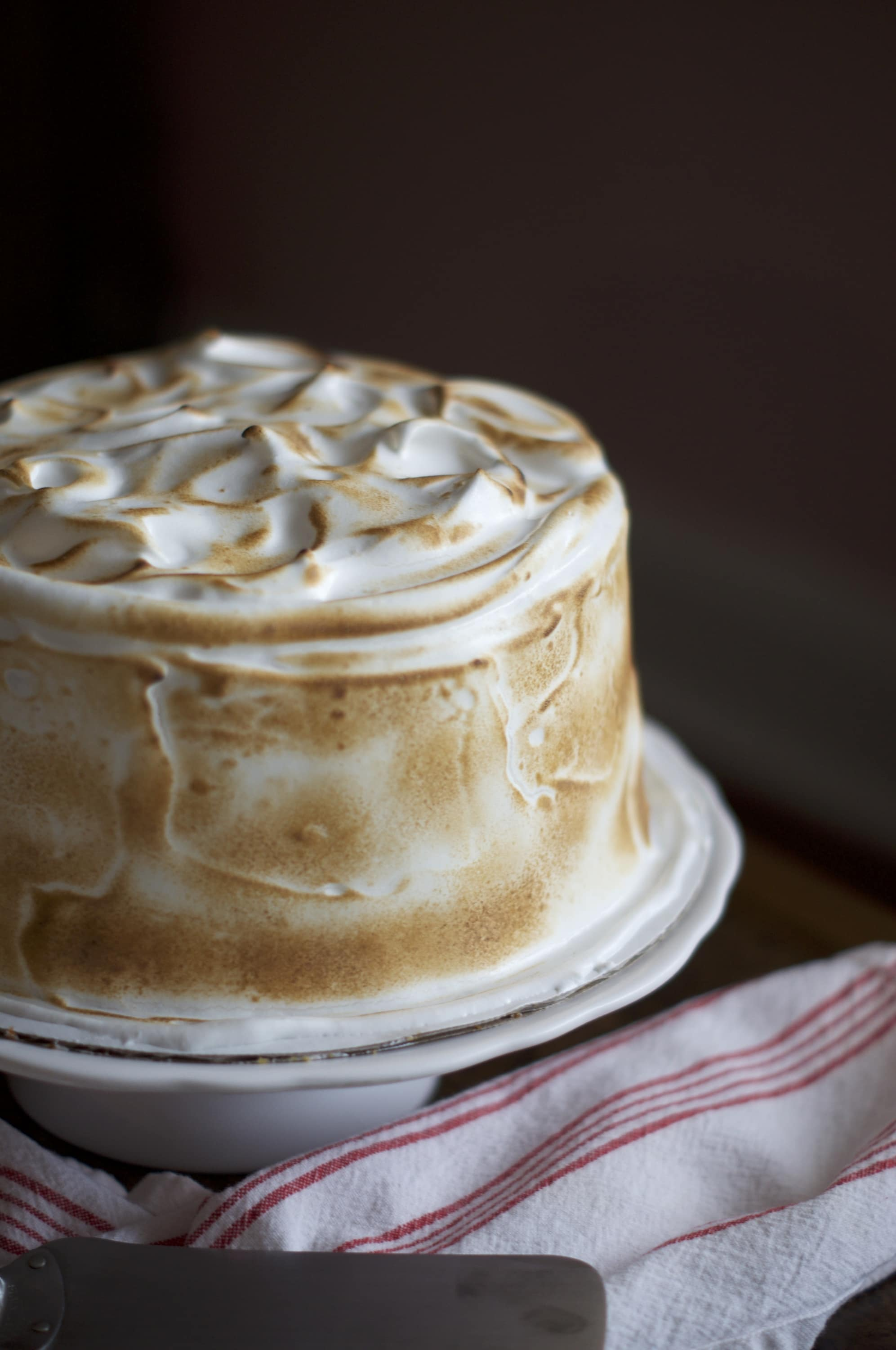 Sweet Potato Cake with Toasted Marshmallow Frosting   via Midwest Nice Blog
