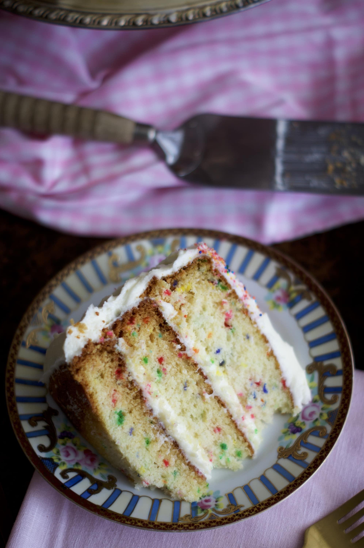 Homemade Funfetti Cake | via Midwest Nice Blog
