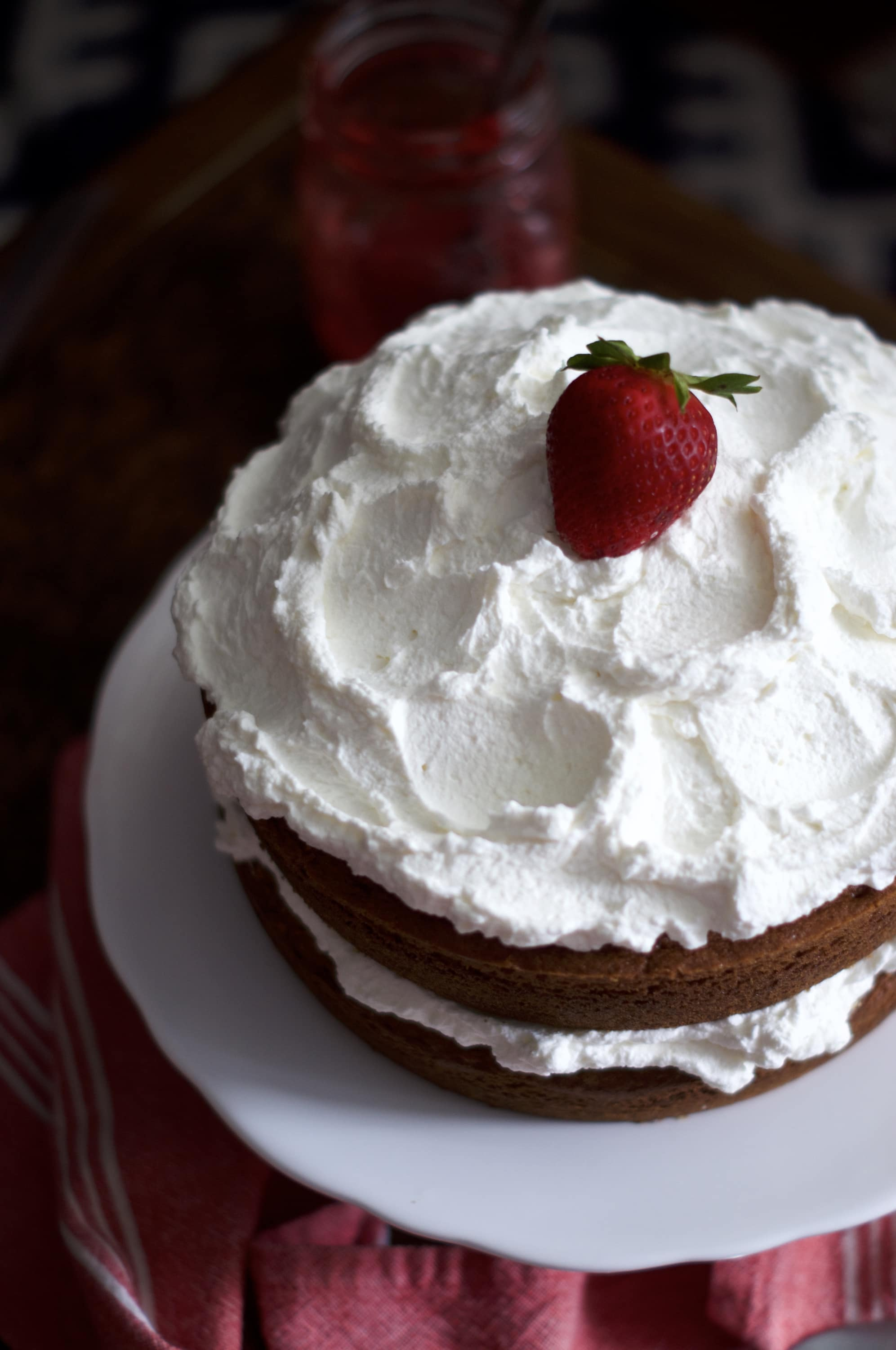 Berries & Cream Cake via Midwest Nice Blog