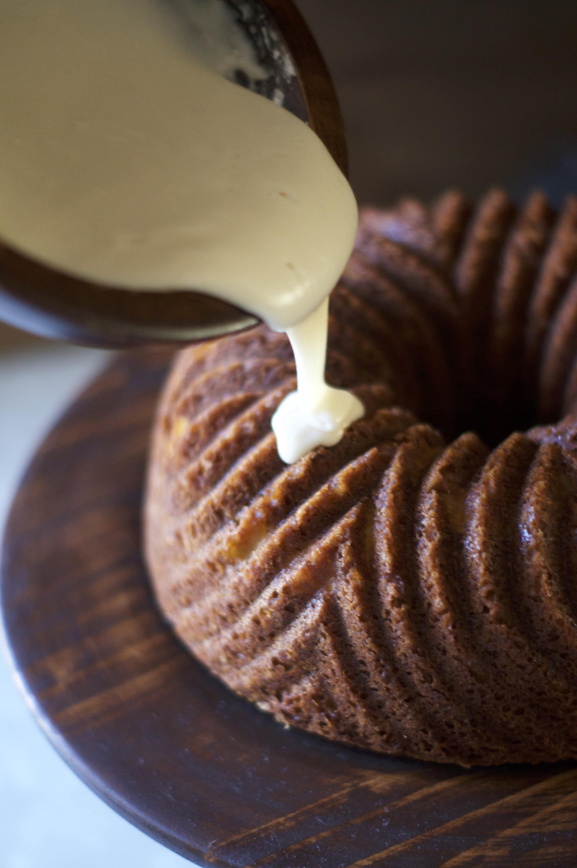 Brandy Pear Bundt Cake via Midwest Nice Blog