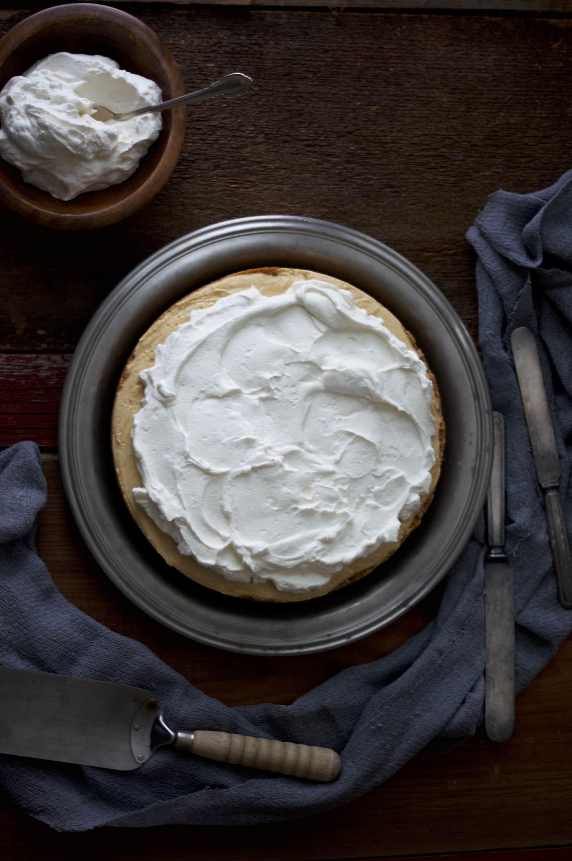Sweet Potato Cream Pie with Marshmallow Whipped Cream via Midwest Nice Blog