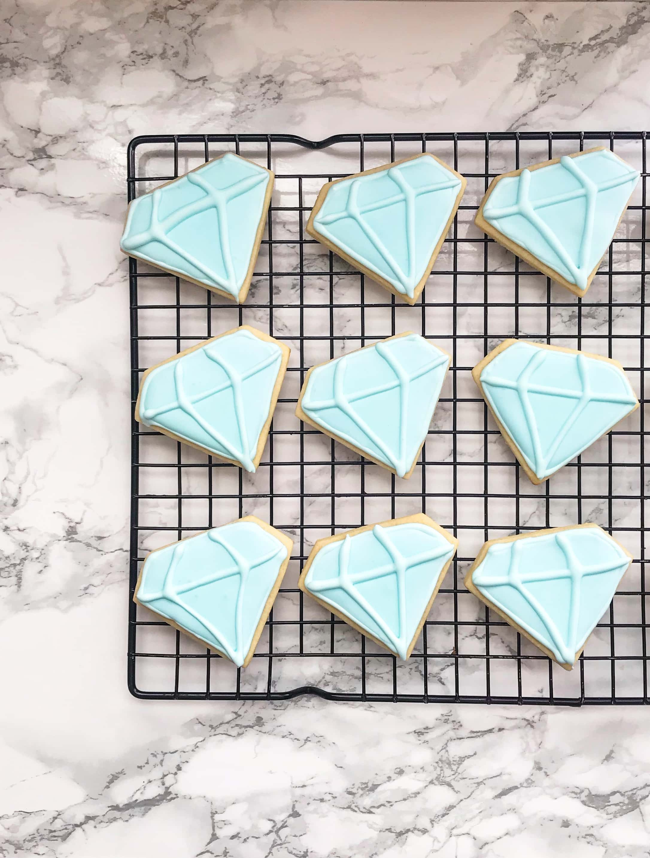 Diamond Cutout Cookies