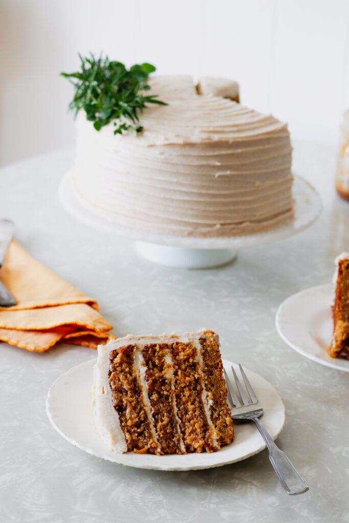 Butternut Squash Cake with Brandy Butterscotch