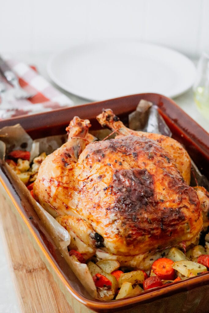 Butter Rubbed Roast Chicken