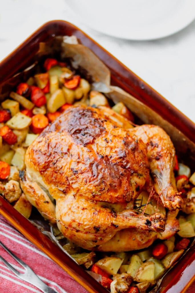 Butter Rubbed Roast Chicken