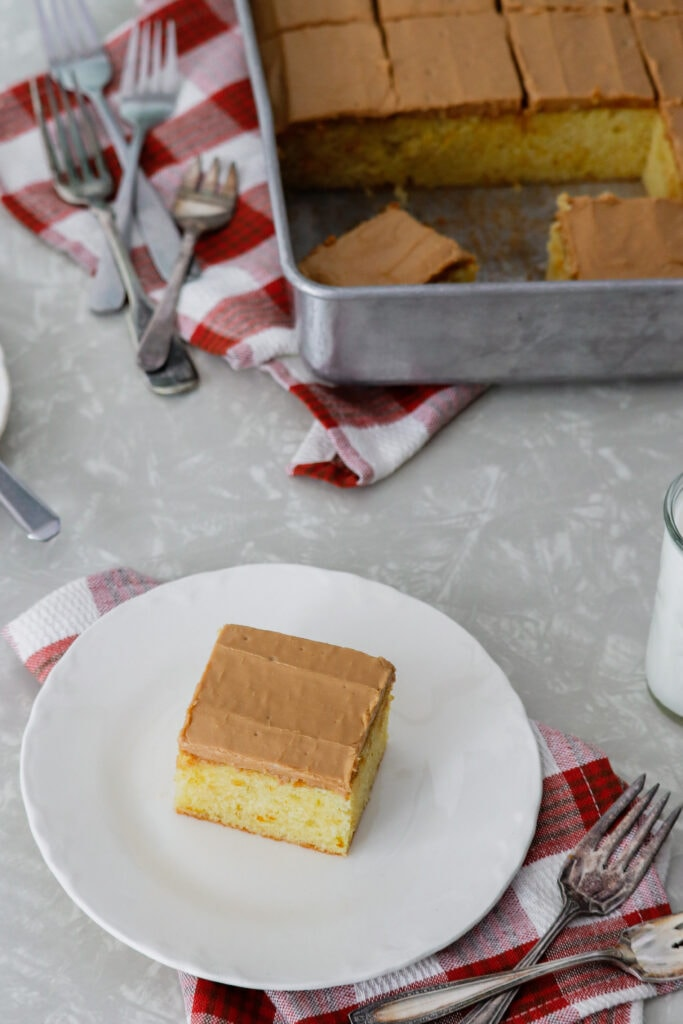 Yellow Cake with Caramel Icing | Midwest Nice