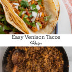 A pin to share the recipe for ground venison tacos