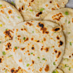 A pin to share the recipe for sourdough discard naan