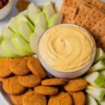 A pin to share the recipe for pumpkin pie cheesecake dip